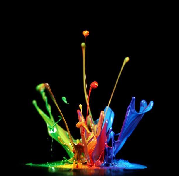 разноцветные брызги