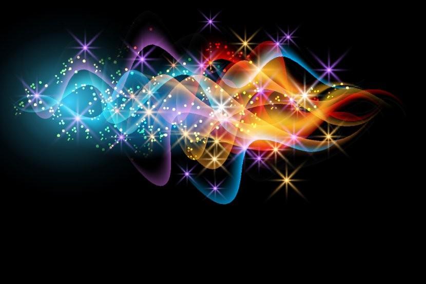 разноцветные волны