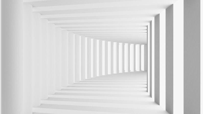 коридор с колонами