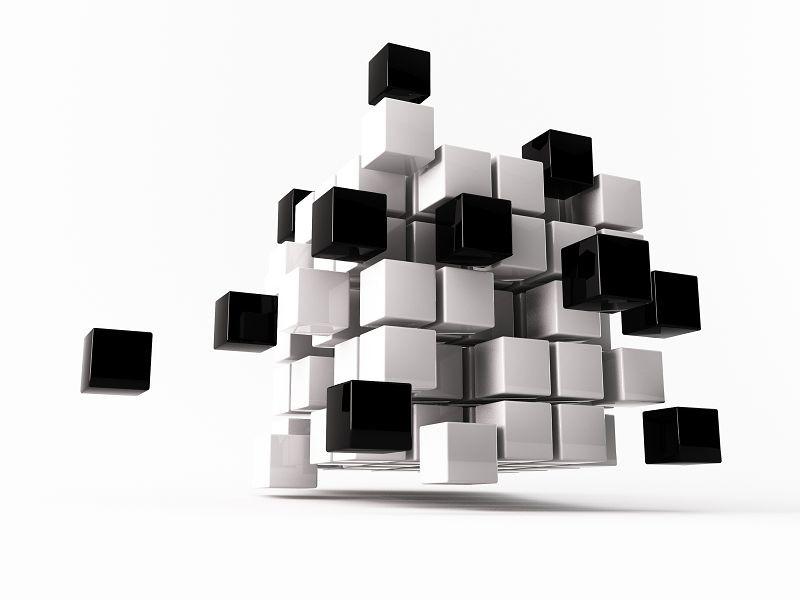 чёрно-белые кубы