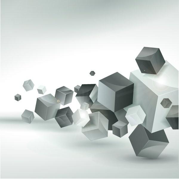 кубы абстракция